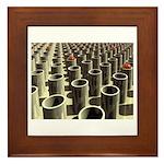 Stockyard of Cylinders Framed Tile