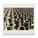 Stockyard of Cylinders Tile Coaster