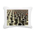 Stockyard of Cylinders Rectangular Canvas Pillow