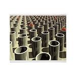 Stockyard of Cylinders Throw Blanket