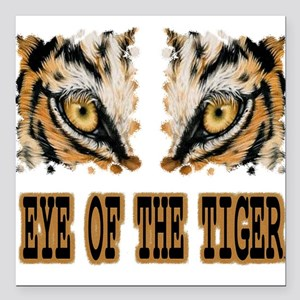 """Eye Of The Tiger Square Car Magnet 3"""" x 3"""""""