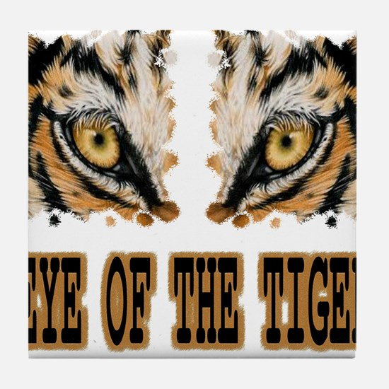 Eye Of The Tiger Tile Coaster
