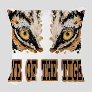 Eye Of The Tiger Woven Throw Pillow