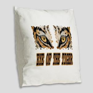 Eye Of The Tiger Burlap Throw Pillow
