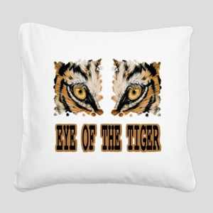 Eye Of The Tiger Square Canvas Pillow