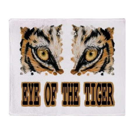 EYE OF THE TIGER THROW BLANKET