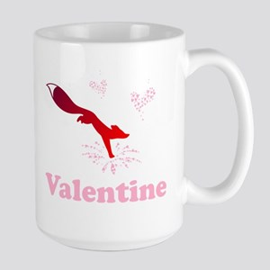 Valentine fox with flower hearts Mugs