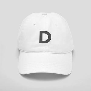 Letter D Dark Gray Baseball Cap