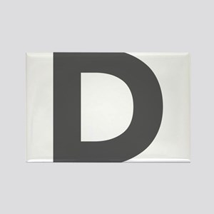 Letter D Dark Gray Magnets