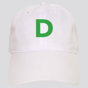 Letter D Green Baseball Cap