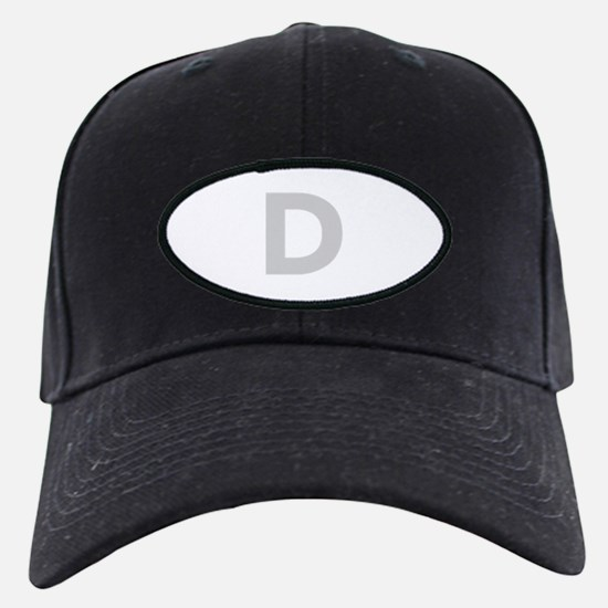 Letter D Light Gray Baseball Hat