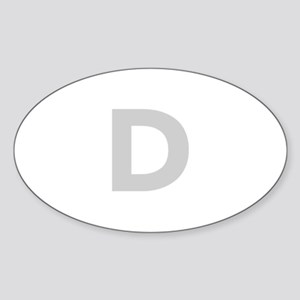 Letter D Light Gray Sticker