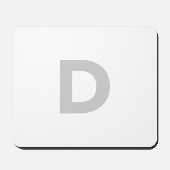 Letter D Light Gray Mousepad