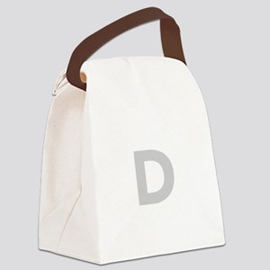 Letter D Light Gray Canvas Lunch Bag