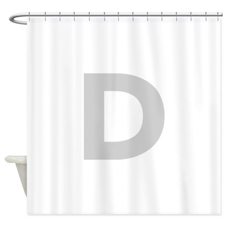 Letter D Light Gray Shower Curtain