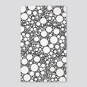 Bubbles on Black 3'x5' Area Rug