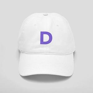 Letter D Purple Baseball Cap
