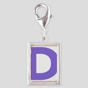 Letter D Purple Charms