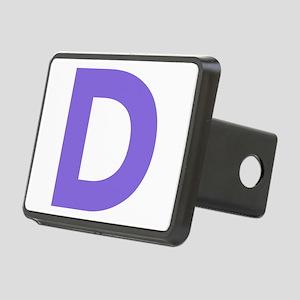 Letter D Purple Hitch Cover