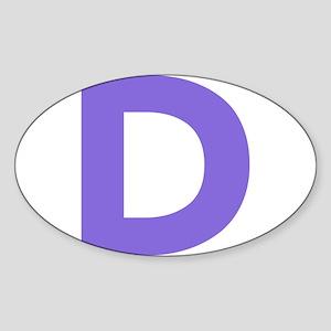 Letter D Purple Sticker