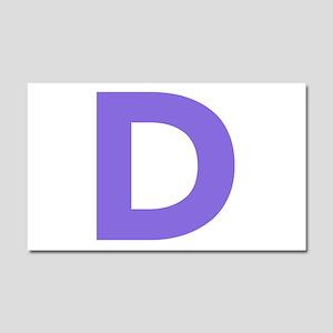 Letter D Purple Car Magnet 20 x 12