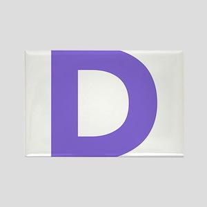 Letter D Purple Magnets