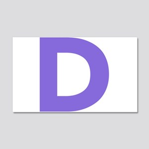 Letter D Purple Wall Decal