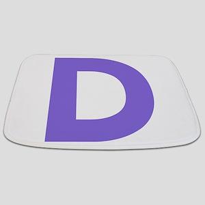 Letter D Purple Bathmat