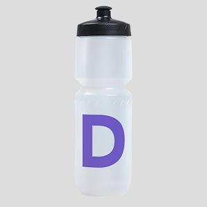 Letter D Purple Sports Bottle