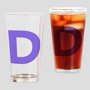 Letter D Purple Drinking Glass