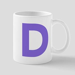 Letter D Purple Mugs