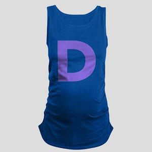 Letter D Purple Maternity Tank Top