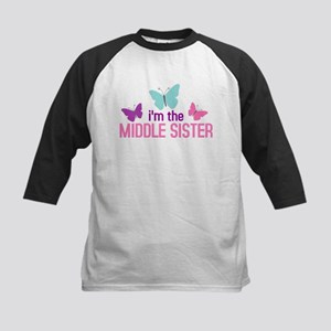 i'm the middle sister butterfly Kids Baseball Jers