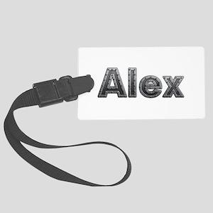 Alex Metal Large Luggage Tag
