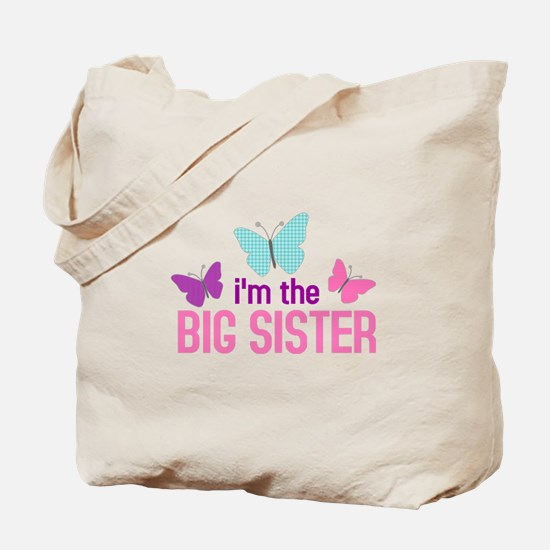i'm the big sister butterfly Tote Bag