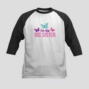 i'm the big sister butterfly Kids Baseball Jersey