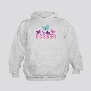 i'm the big sister butterfly Kids Hoodie