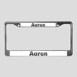 Aaron Metal License Plate Frame