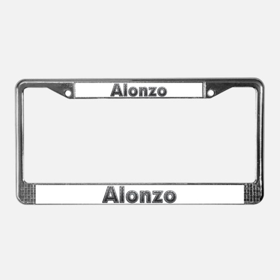 Alonzo Metal License Plate Frame