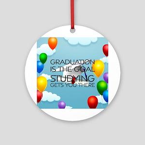 Graduation Goal Ornament (Round)