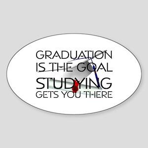 Graduation Goal Sticker (Oval)