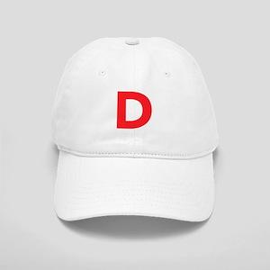 Letter D Red Baseball Cap
