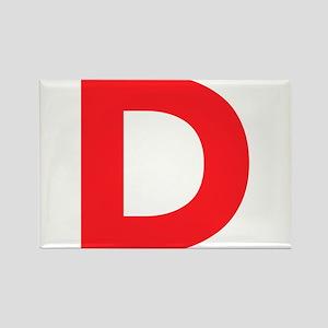 Letter D Red Magnets