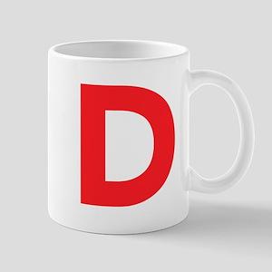 Letter D Red Mugs