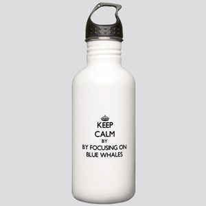 Keep calm by focusing on Blue Whales Water Bottle