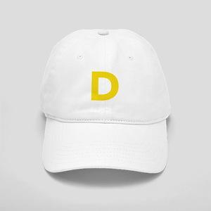 Letter D Yellow Baseball Cap