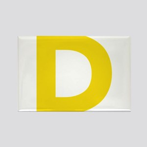 Letter D Yellow Magnets