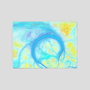 Streams of Aqua Joy 5'x7'Area Rug