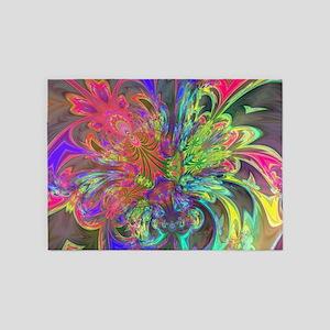 Bright Burst of Color 5'x7'Area Rug