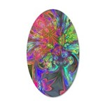 Bright Burst of Color 35x21 Oval Wall Decal